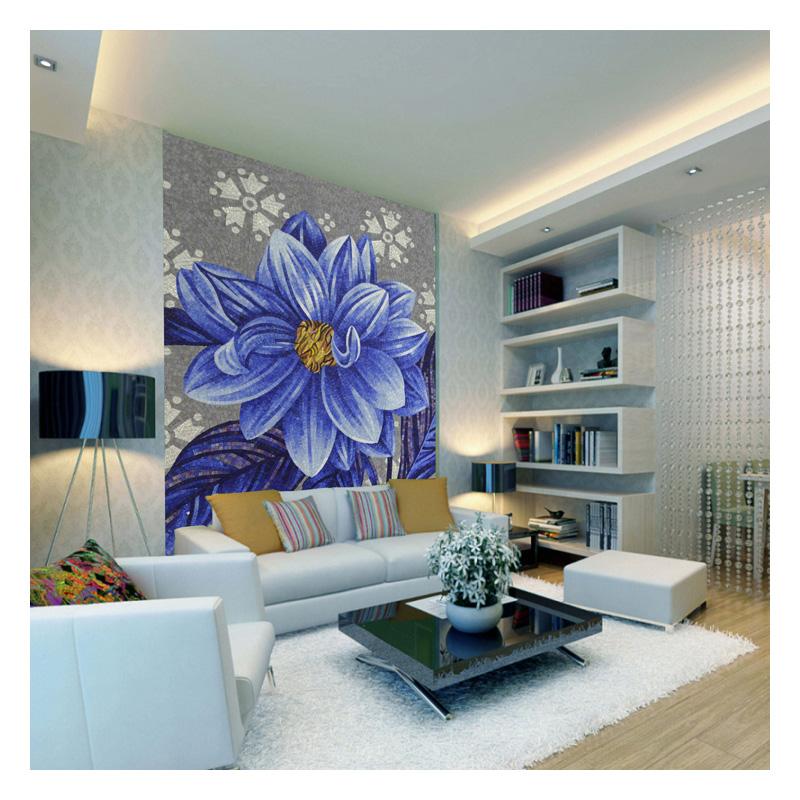 Zffm007 gardenia flower mosaic designs hotel wall decor for Hotel decor for sale