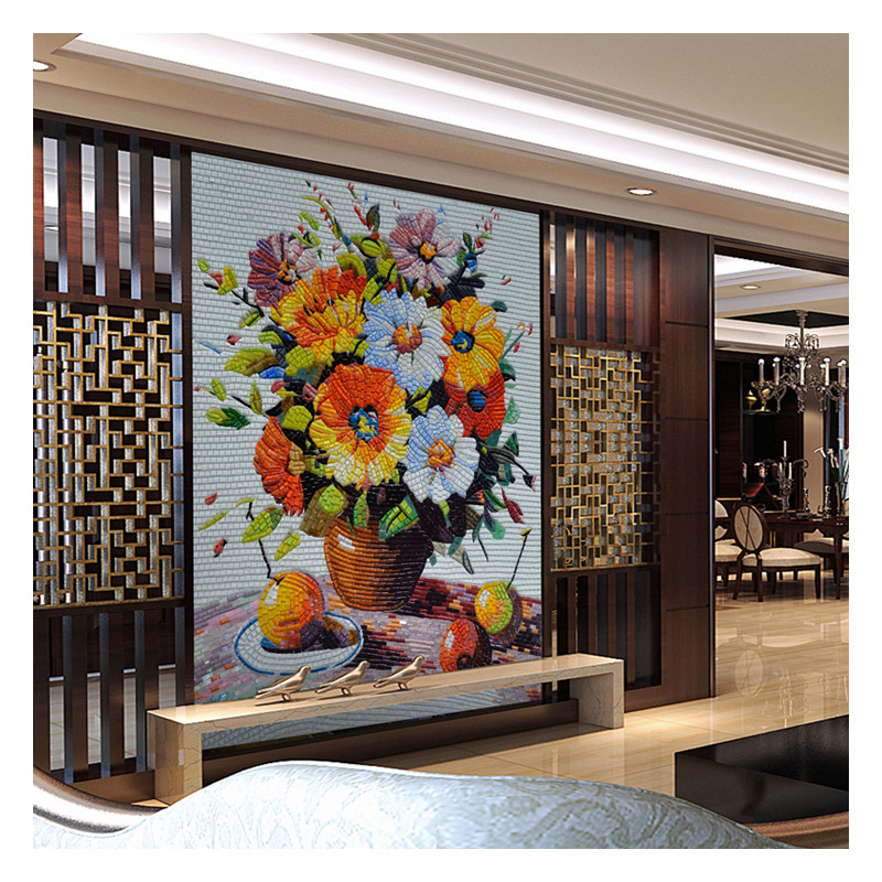 ZFFM005 flower mosaic painting for sale living room wall ...