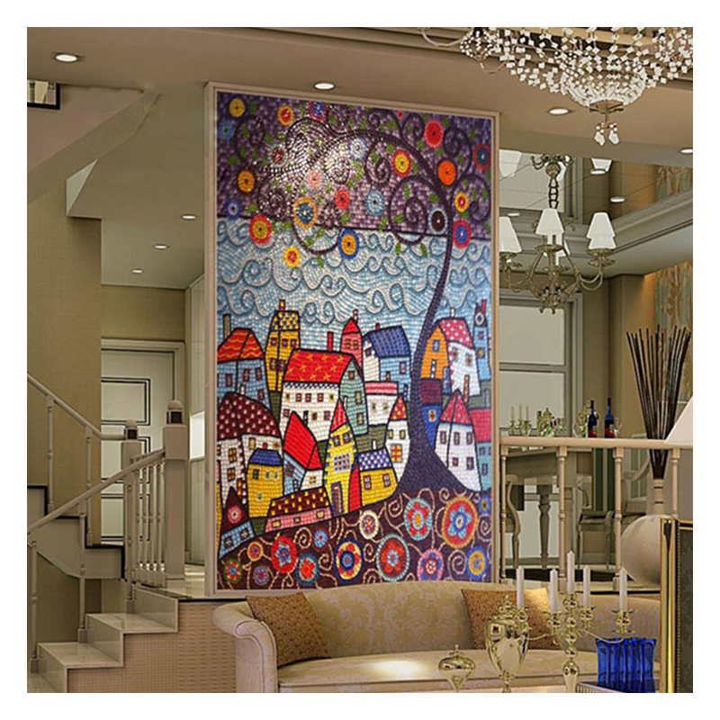 Zfabm024 Abstract Painting Glass Mosaic Mural Patterns