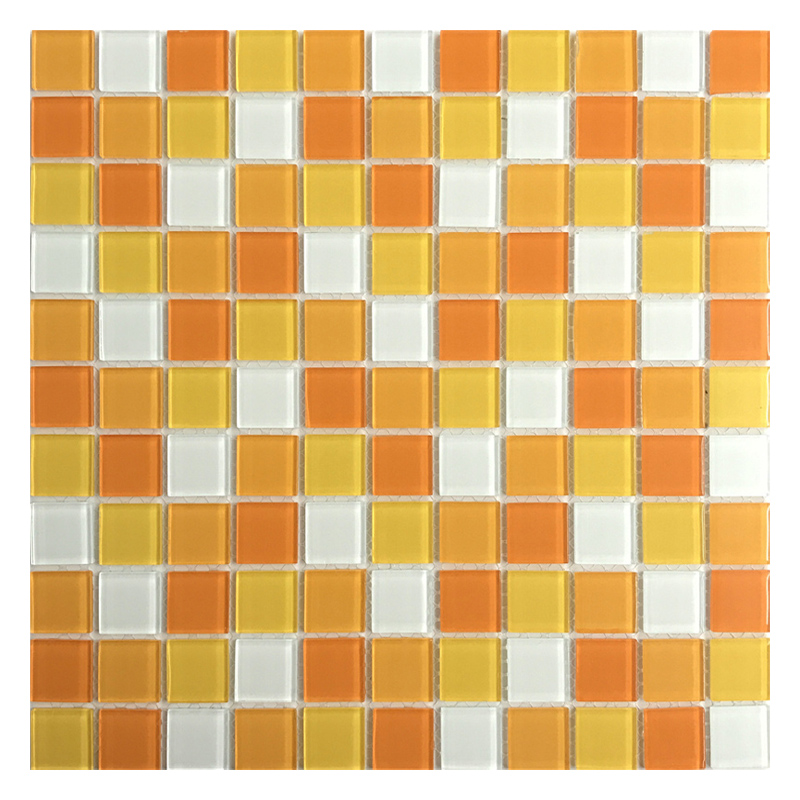 Zfc015 Crystal Glass Mosaic Tiles Mix Color Sheets For